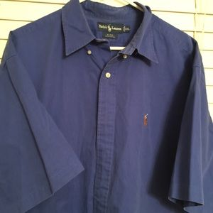 Royal Blue short sleeve button down